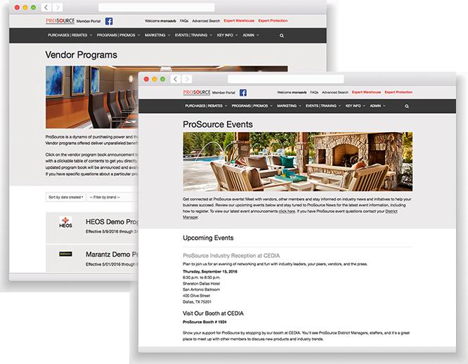 Portal Screens